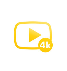 4k video icon sign vector image