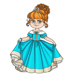 beautiful little princess curtsies isolated on vector image vector image