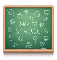 Green School Chalk Board vector image