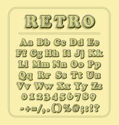 retro font on light yellow background the vector image vector image