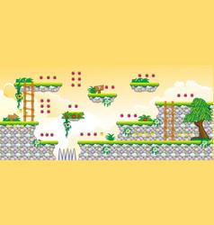 2d tileset platform game 21 vector