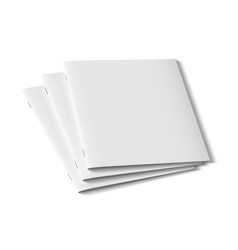 3d three clear brochure template for presentations vector image