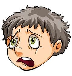 A face of a sad boy vector