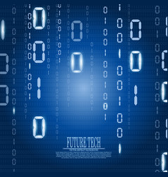 Abstract matrix cyberspace background vector