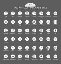 Artistic grey icon set eps file vector