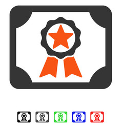 Award diploma flat icon vector