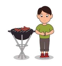 Barbecue time best meat vector