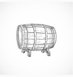beer cask or barrel abstract sketch hand drawn vector image