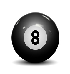 Billiard ball eight vector image
