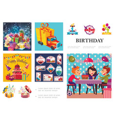 birthday party composition vector image