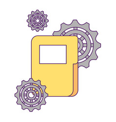 business folder file gears business vector image