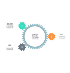 Business infographics organization chart with 3 vector