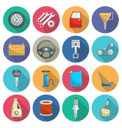 Car service maintenance flat icon set vector