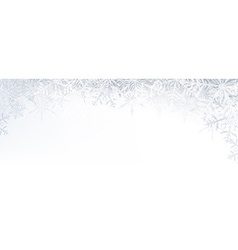 Christmas banner with crystallic snowflakes vector
