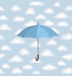 Cloud pattern umbrella rainy weather sky seamless vector