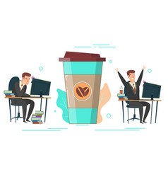 coffee energy concept for web banner vector image