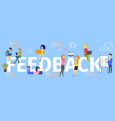 company clients feedback flat concept vector image