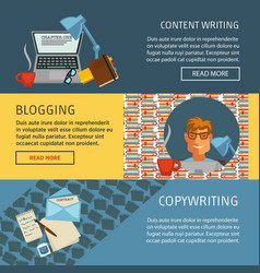 content writing blogging and copywriting web page vector image