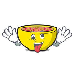 Crazy soup union mascot cartoon vector