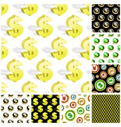 dollar seamless pattern vector image