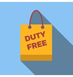 Duty-free bag colored flat icon vector