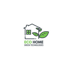 Eco green home vector