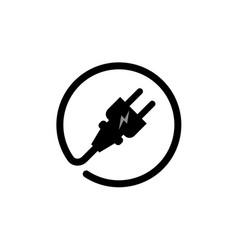 Electric plug connect concept socket get vector