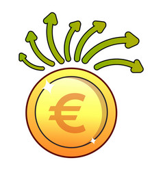 euro icon flat style vector image