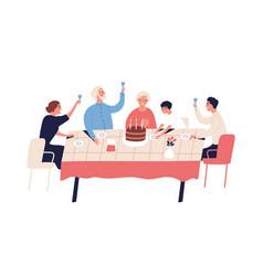 family celebration grandparents birthday vector image