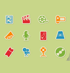 Film industry icons vector