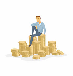 financial success - modern cartoon people vector image