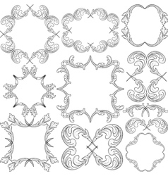 frame ornaments vector image