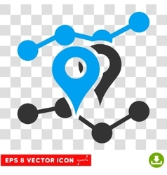 Geo Trends Eps Icon vector