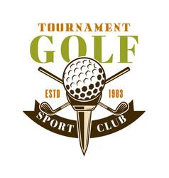 golf tournament emblem label badge logo vector image