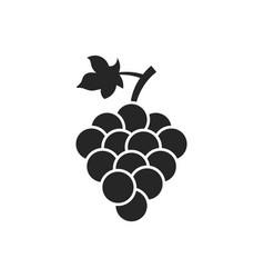 grape isolated icon grape leaf wine black vector image