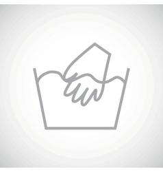 Grey hand wash icon vector