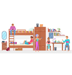 group student friends man and woman living and vector image