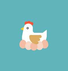 hen hatching egg vector image