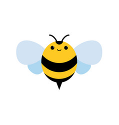 Honey and bee icon honey vector