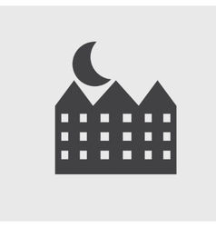 House and moon icon vector