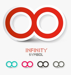 Infinity Symbols Set Isolated on White Background vector image