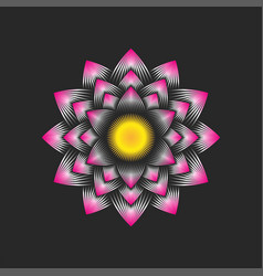 Logo lotus flower is an buddhism symbol purity vector