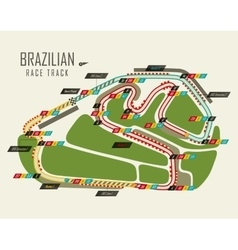 Loop race track of formula one Brazil grand prix vector
