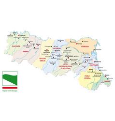 map italian region emilia romagna with flag vector image