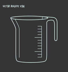 measuring cup icon line element vector image