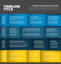 multipurpose infographic timeline table template vector image