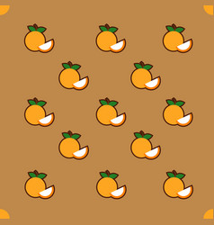 Orange pattern on brown background vector