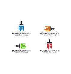 Paint brush for logo design concept vector