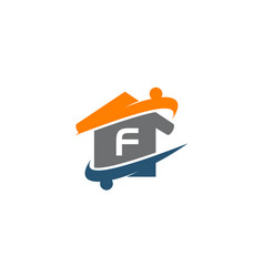 parenting life home care initial f vector image