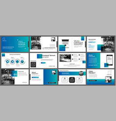 Presentation and slide layout template design vector